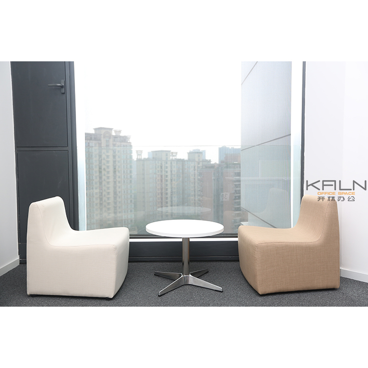 Factory directly sell modern new resting office furniture custom made industrial desk fabric sofa set leisure couch waiting area