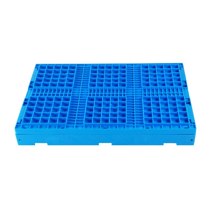 Factory Price Cheap Blue Plastic Collapsible Stackable Shipping Foldable Crate