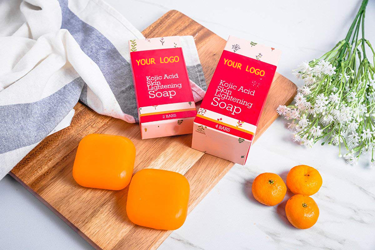 OEM kojic acid arbutin 100% pure whitening soap thailand For Daily Skin Care