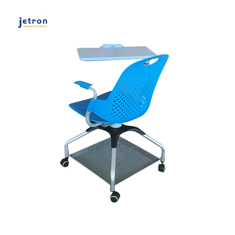 ABS engineering plastics and other materials university classroom educational plastic table chairs with writing pad