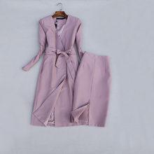 Повседневный Женский Длинный блейзер из двух предметов + мини-юбка, комплект для женщин на весну и осень 2020, новые женские офисные костюмы, р...(Китай)