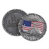 3D antique silver coin