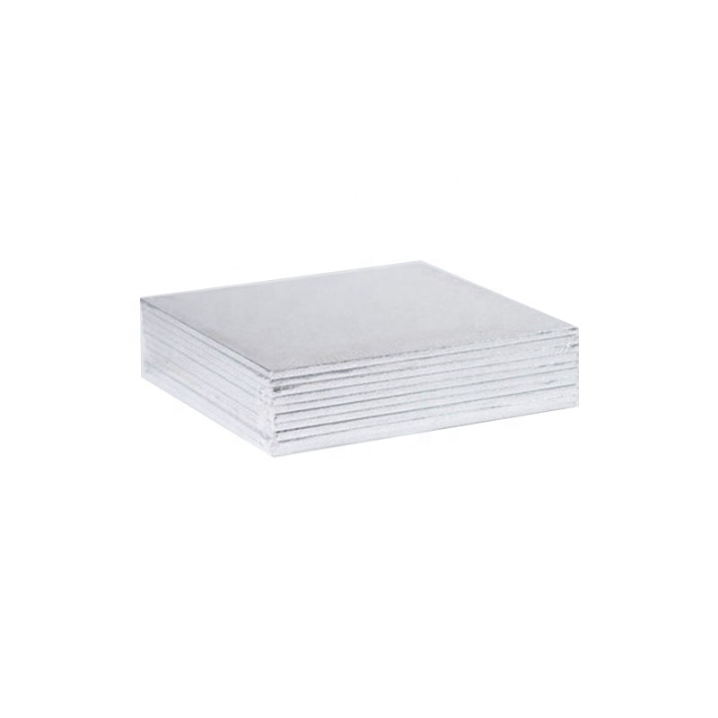 Square think 1/4inch silver cake drums cake boards paper cake boards