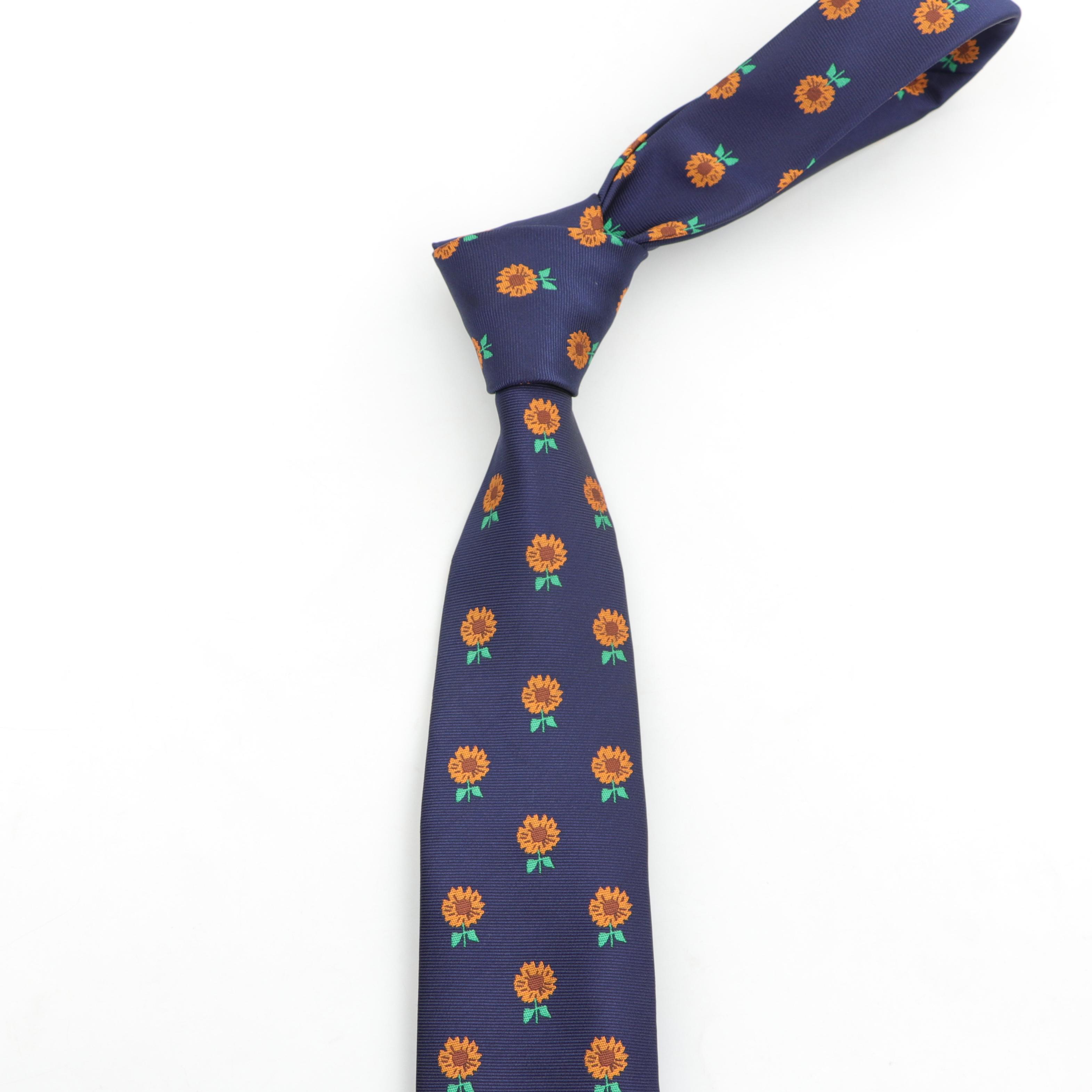 Галстук в виде подсолнуха стандартного размера галстук для жениха джентльмена Мужской дизайнерский галстук из полиэстера Gravata тонкая стрела шелковый галстук 7,5 см
