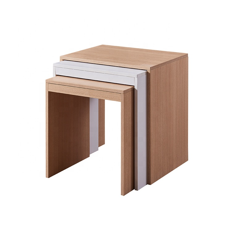 Modern Design Wooden White Nesting Sofa Side Tables Home Furniture Coffee End Table Buy Modern Wooden Sofa Table Modern Square Nesting Coffee Tables Cheap Mdf Melamine 3 Set Sofa Side Tables Product On