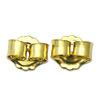 Silver ear back+ gold plated