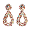 Color 2 rhinestone drop earrings
