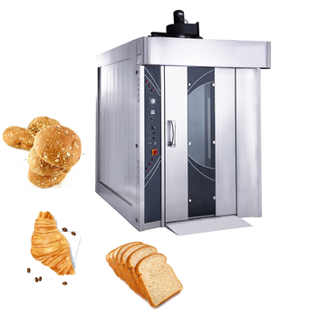 Commercial Stainless Steel Equipment Bakery Machines Automatic High Speed 32 trays Rotary Rack Oven for Pizza Bread