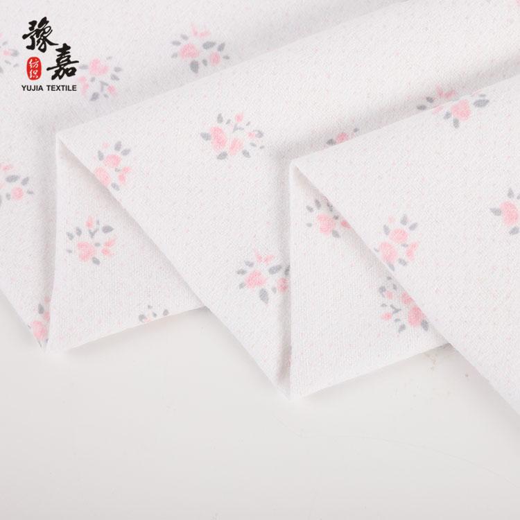 Цветочная хлопковая ткань, трафаретная печать, фланелевая ткань с принтом на заказ