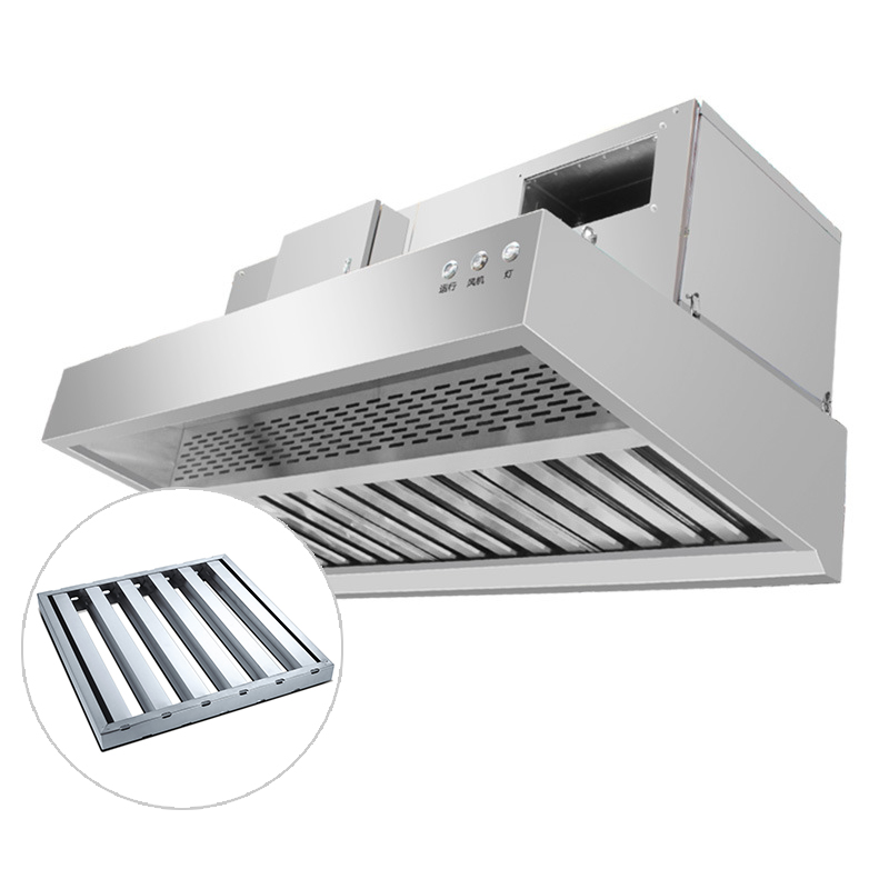 Commercial Stainless Steel Baffle Kitchen Grease Filter