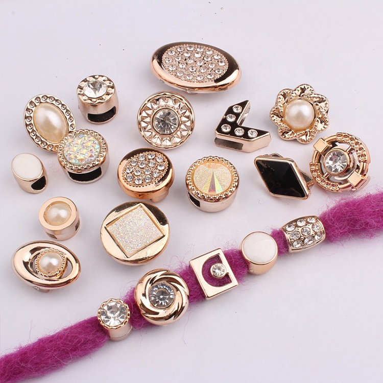 Free Shipping Golden Large Hole Plastic Dreadlock Hair Beads For Accessories Jewelry