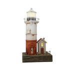 Wooden Crafts YBOX American Ocean Style Handmade Wooden Lighthouse Lantern In Resin Crafts