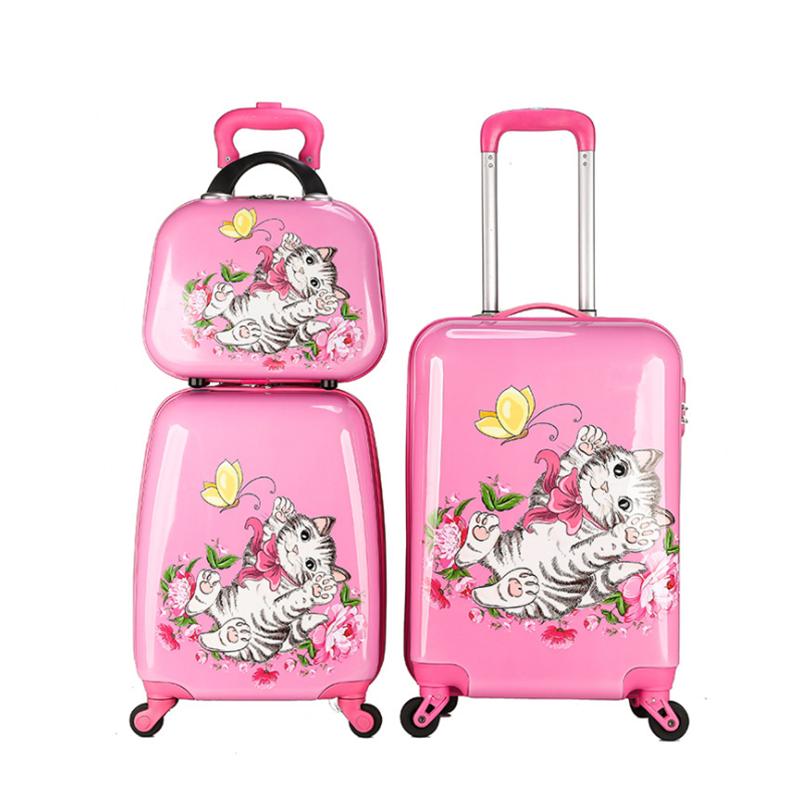 2020 оптовая продажа, детские чемоданы на колесиках из поликарбоната и АБС-пластика