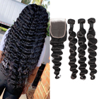 Li&queen Hair Brazilian Loose Deep Wave Vigin Hair Weave 3 Bundles 300g Unprocessed Loose Deep Wave Virgin Human Hair