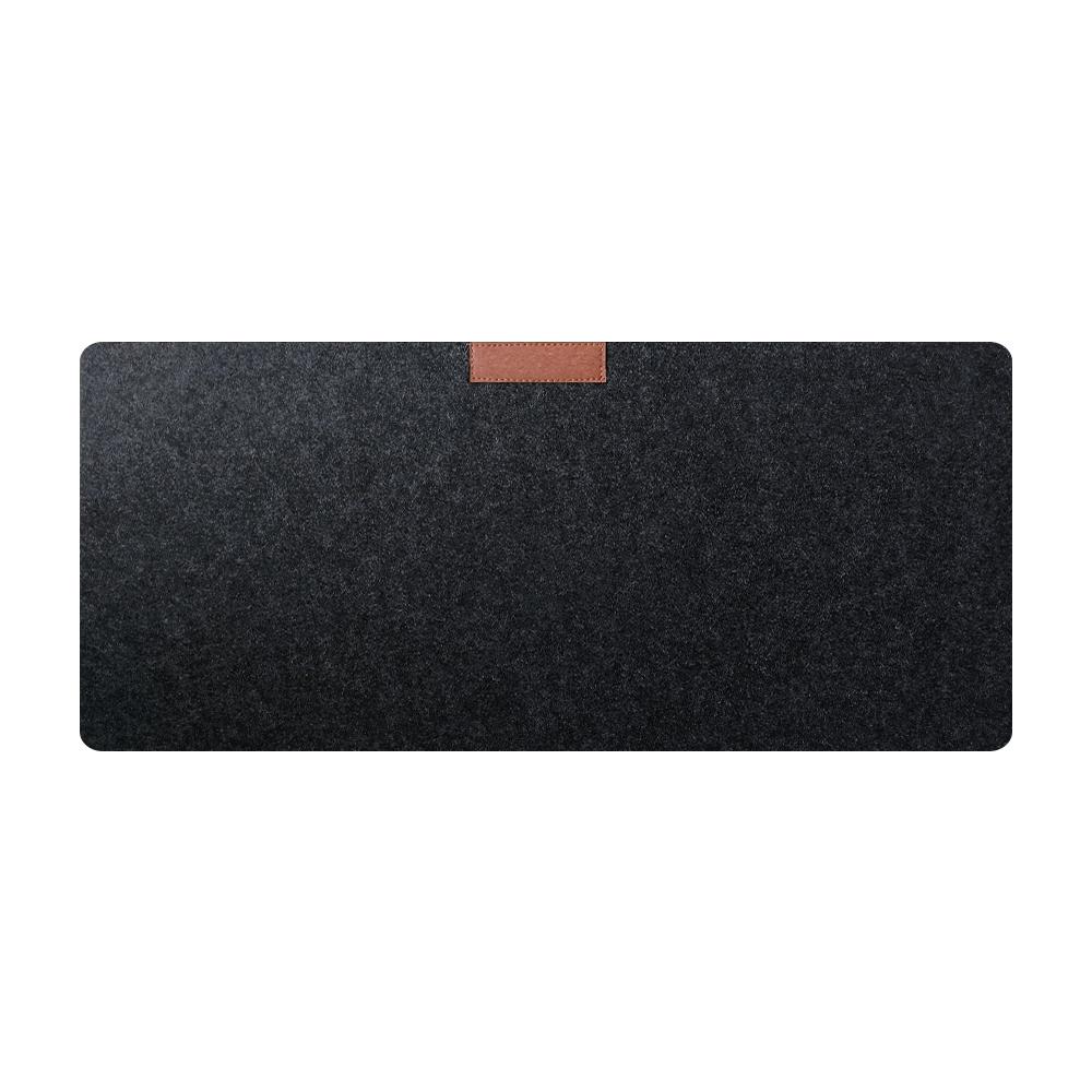 Custom Logo Large Felt Base Desk Mouse Pad Protector Non-slip Writing Mat Wool Laptop Pad for Office