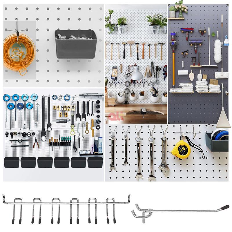 Устойчивые металлические крючки для подвешивания, оптовая продажа, комплект крючков для подвешивания, ассортимент крючков для подвешивания для гаража/верстака/кухни/супермаркета