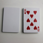 Custom Design Your Logo Plastic Pvc Poker Deck Blank Sublimation Playing Cards