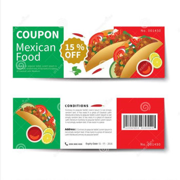 Eco-friendly Paper Recharge Voucher Leaflet Discount Coupon for mall and super market