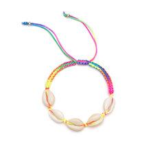 Женский красочный браслет на цепочке, Богемский Браслет с натуральными морскими ракушками, летние пляжные украшения для ног, 2019(Китай)