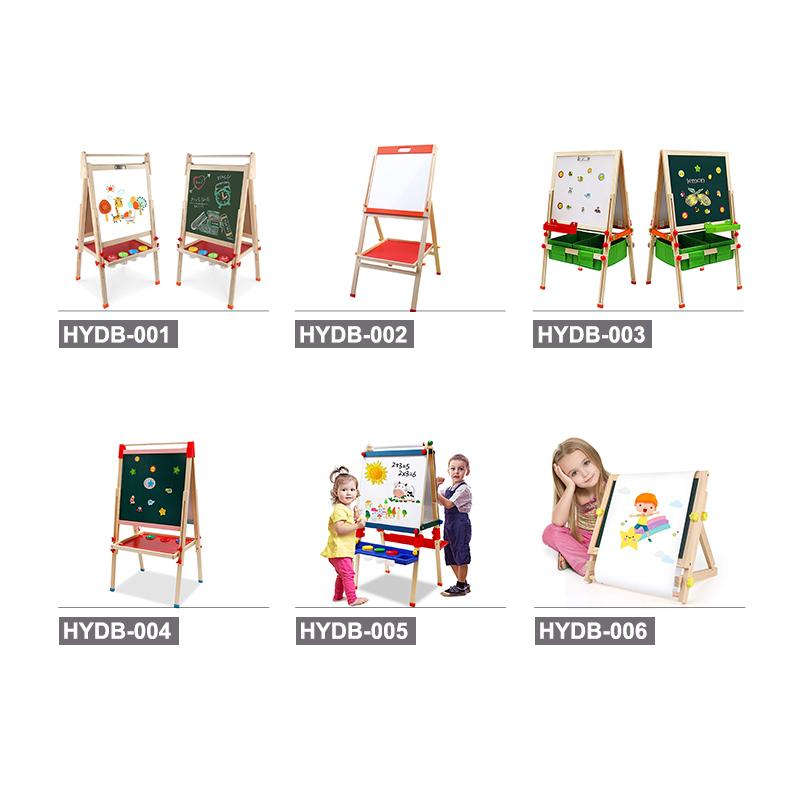 Двусторонняя подставка из натуральной сосны, художественный мольберт для раннего развития, детская деревянная доска для рисования «Все в 1» для малышей