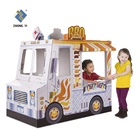 Cardboard Play House for Kids Painting Ice Cream Car