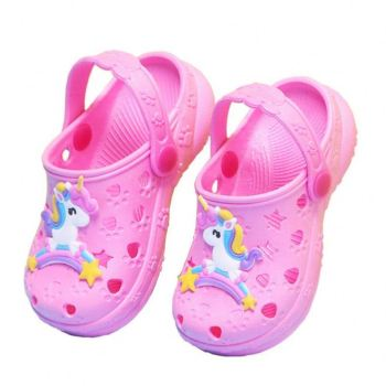 Children's slippers summer 1-8 years old non-slip girls sandals and slippers hole shoes baby toddler children beach slippers