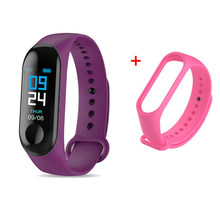 M3 Смарт-часы для мужчин и женщин Браслет фитнес-трекер сообщения напоминание цветной экран водонепроницаемый спортивный браслет PK M4 relogio(Китай)