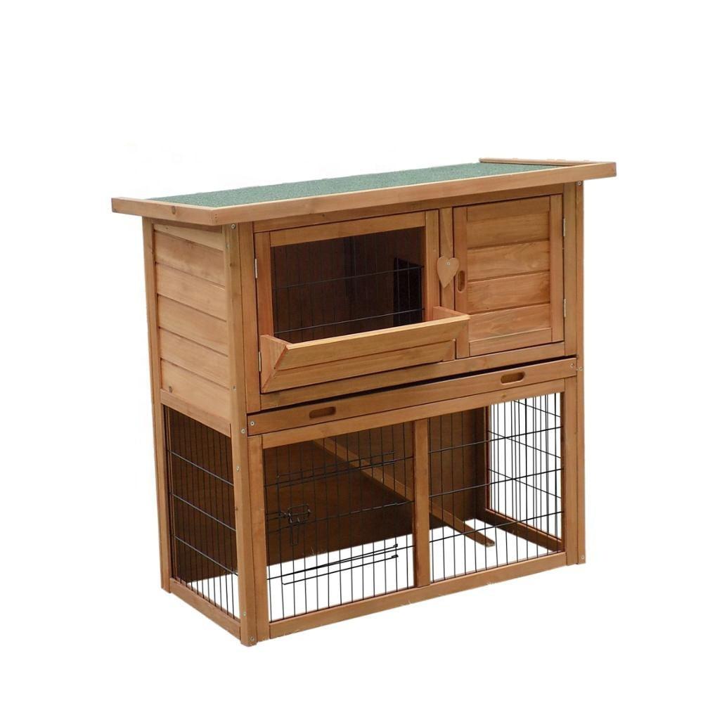 Wooden Outdoor Rabbit Living House Waterproof Large Rabbit Hutch ...
