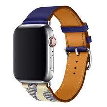 Кожаный ремешок для часов apple watch series 5, 4, 44, 40 мм, 42 мм, 38 мм, серия 1, 2, 3(Китай)
