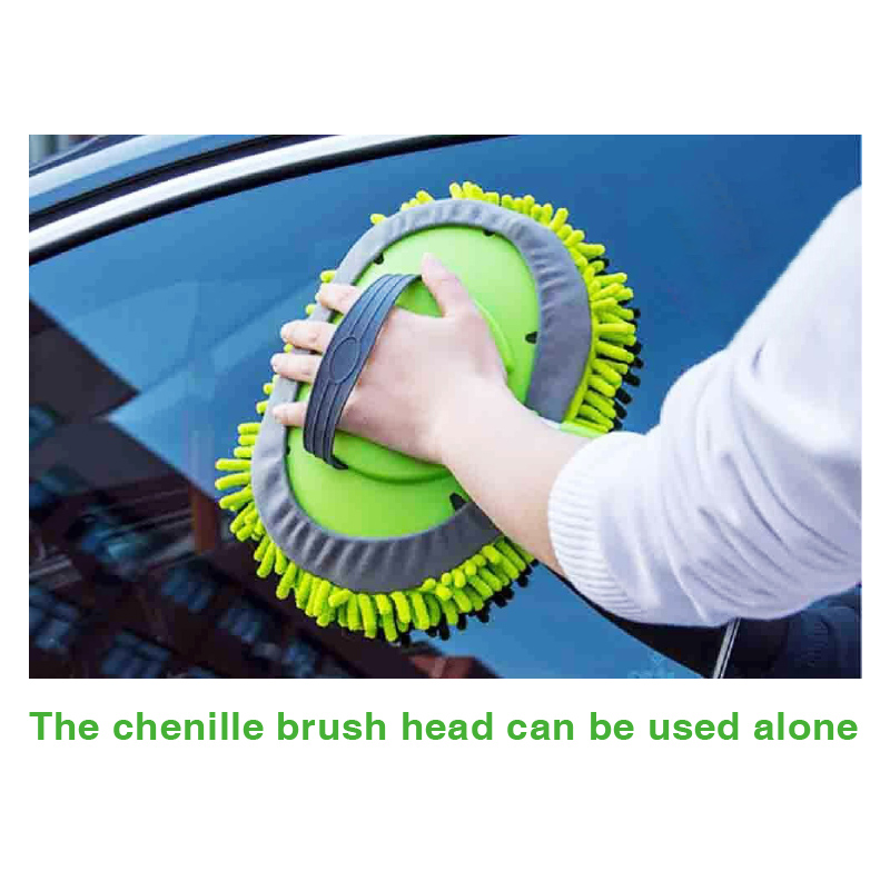Car Accessories tools universal wash water Chenille flow through Cleaning Brush