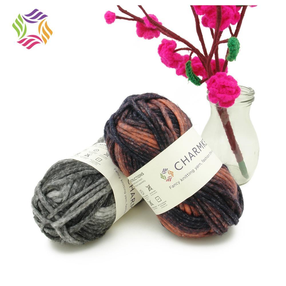HIgh quality space dyed Acrylic and Nylon blend yarn gradient ramp hand knitting yarn