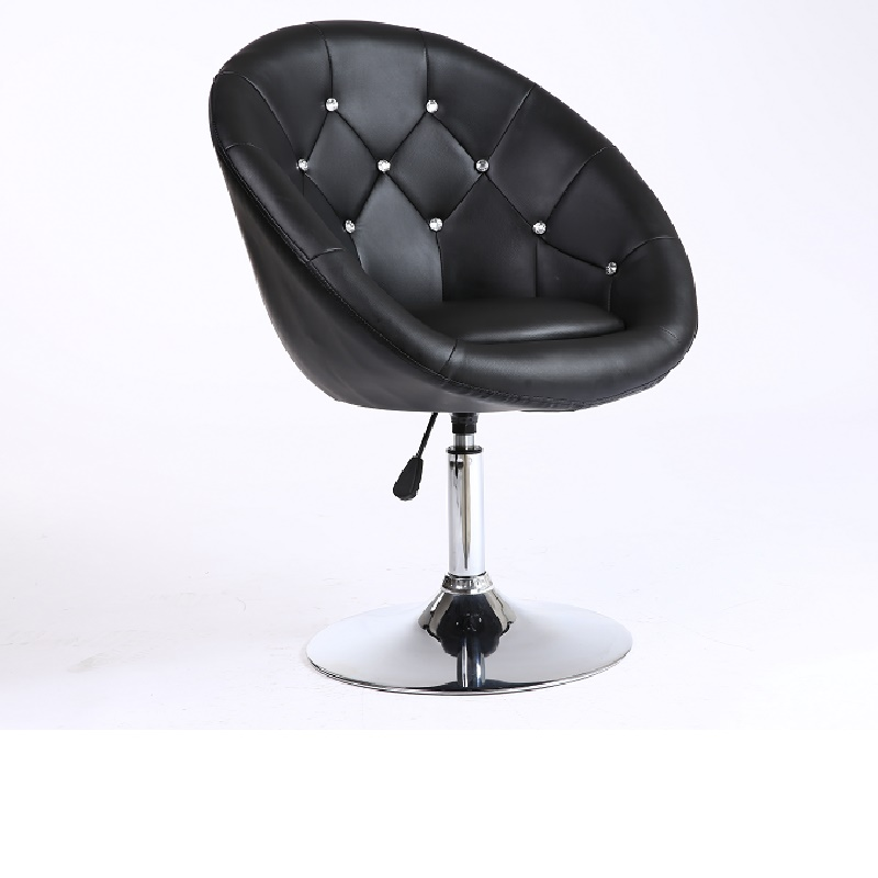 Simple beautiful design swivel accent home furniture with crystal button barber chair