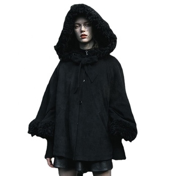 Fashion Women's Lovely Cloak Coat Batwing Cape Occult priest Lolita hooded cloak OPY-430DPF