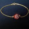 10MM Red Tiger eye + Gold Chain
