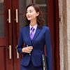 Women royalblue suits(blazer+Vests+pants)