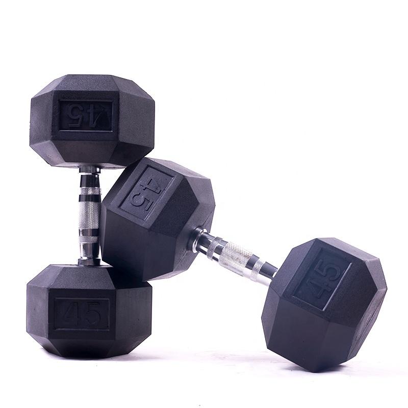 Резиновые Круглые гантели для упражнений 5 кг 7,5 кг 10 кг, гантели для дома, тренажерного зала, Набор Шестигранных гантелей