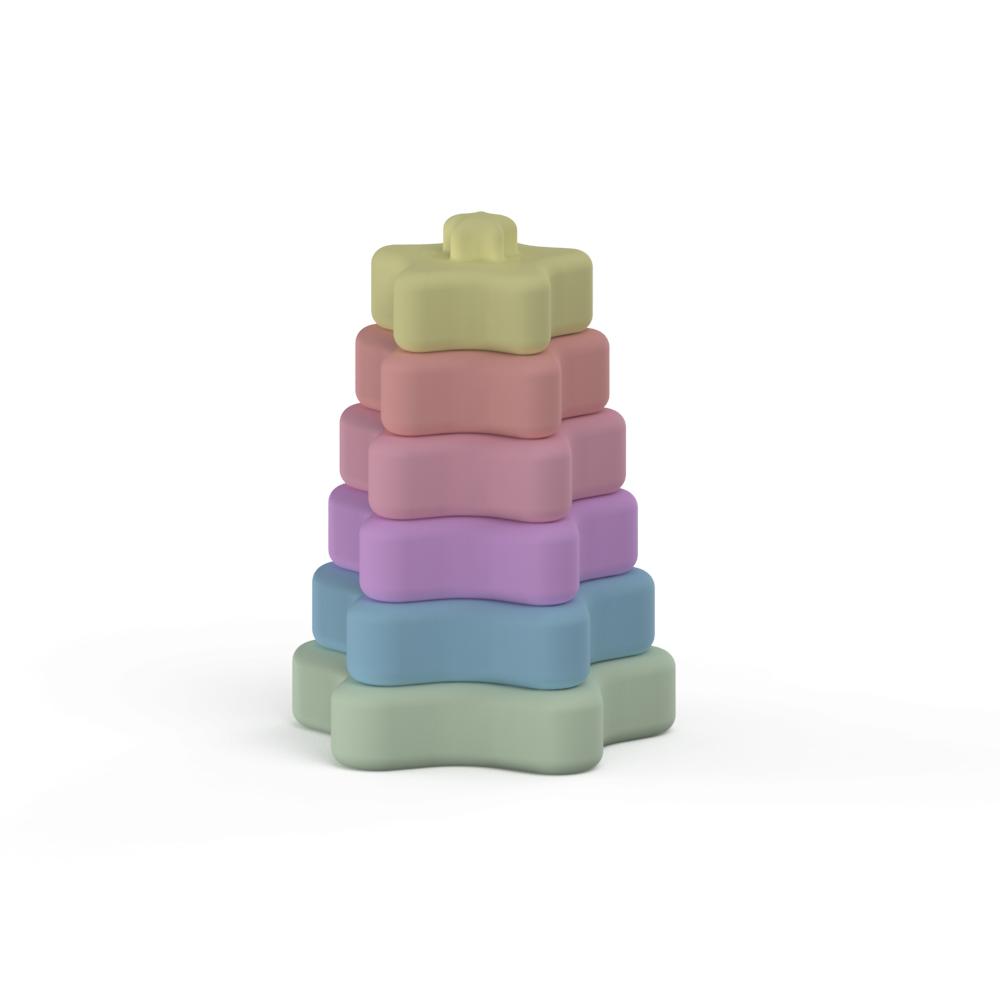 Новое дизайнерское детское образовательное кольцо Монтессори силиконовая игрушка в форме сердца