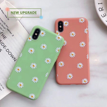 Chrysanthemum Floral Soft TPU Silicone Case for iPhone 6 6S 7 8 Plus 5 5S 11 Pro X XR XS Max 7 Plus 8 Plus Cute Cover
