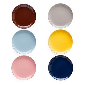 Ceramic Porcelain Colors Glaze Color of Macaron Round Shape Dinner Plate and Dessert Plate for Wedding