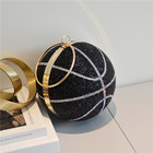 Handbag New Style Rubber Diamond Ball Cross Handbag Rithestone Basketball Chain Women Bag