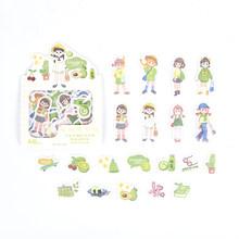 40 шт/1 лот корейские канцелярские наклейки девушка носить дневник декоративные наклейки Скрапбукинг DIY ремесло игры наклейки(Китай)