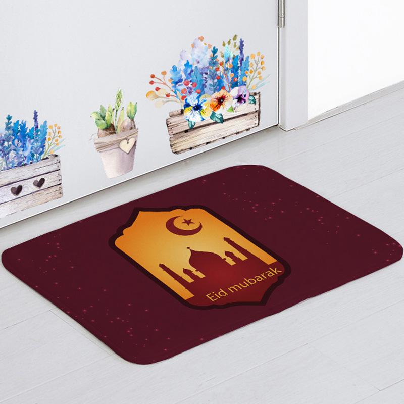 Music tape Anti-slip doormat Vacuuming Home Entrance Rugs kid prayer mat 40*60cm