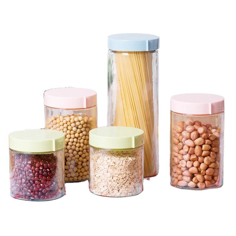 LOVWISH Eco Friendly Glass Storage Jars With Lid Food Kitchen Glass Jar