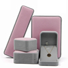 Earring box: 7*7*4cm Pink & grey