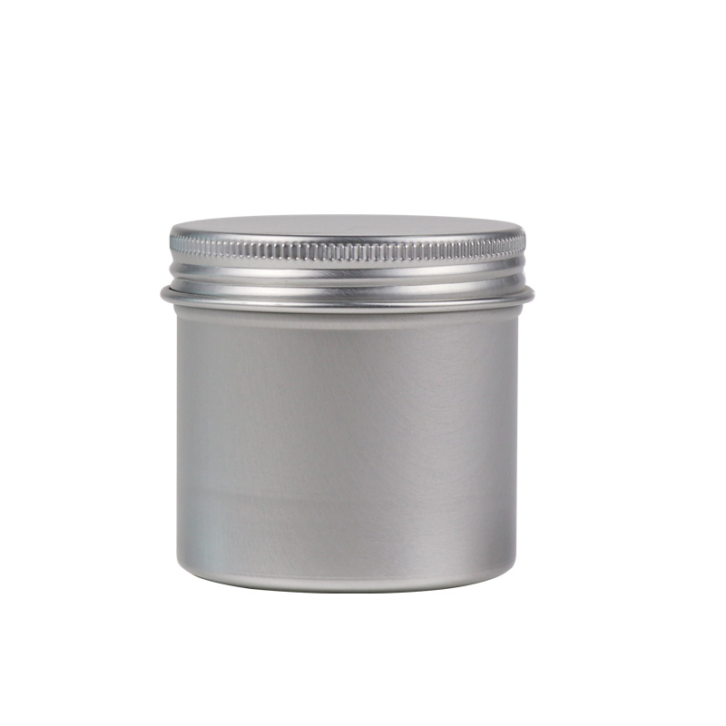 Empty round metal canister tea tin with lid ,aluminum tin can jar with colorful printing for food packaging