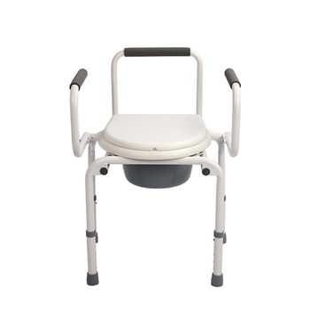 UJOIN low price multifunction stainless steel foldable luxury bedside portable commode chair toilet for old people