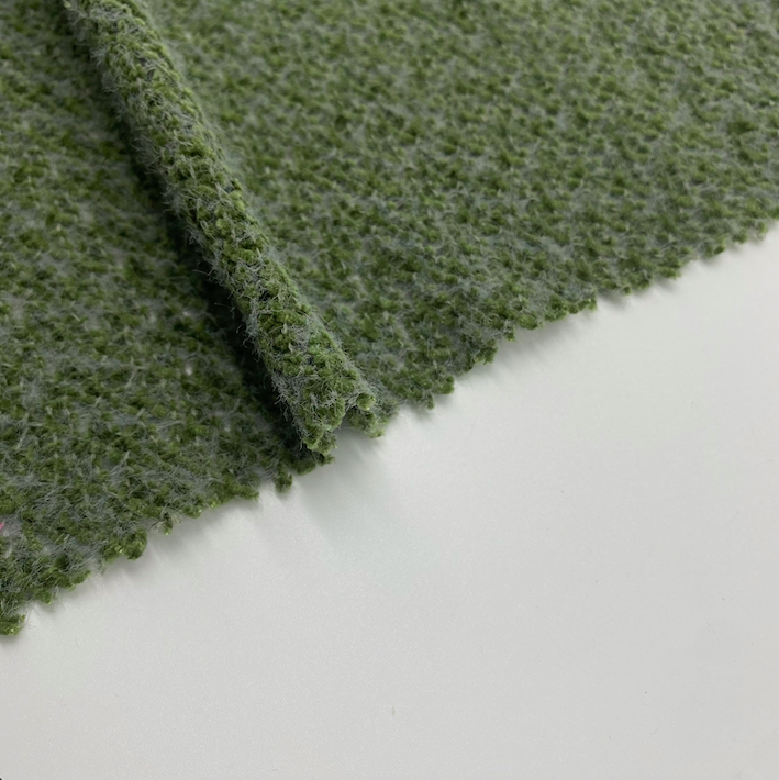 High quality polyester nylon chenille knitted fabric Single side for clothes