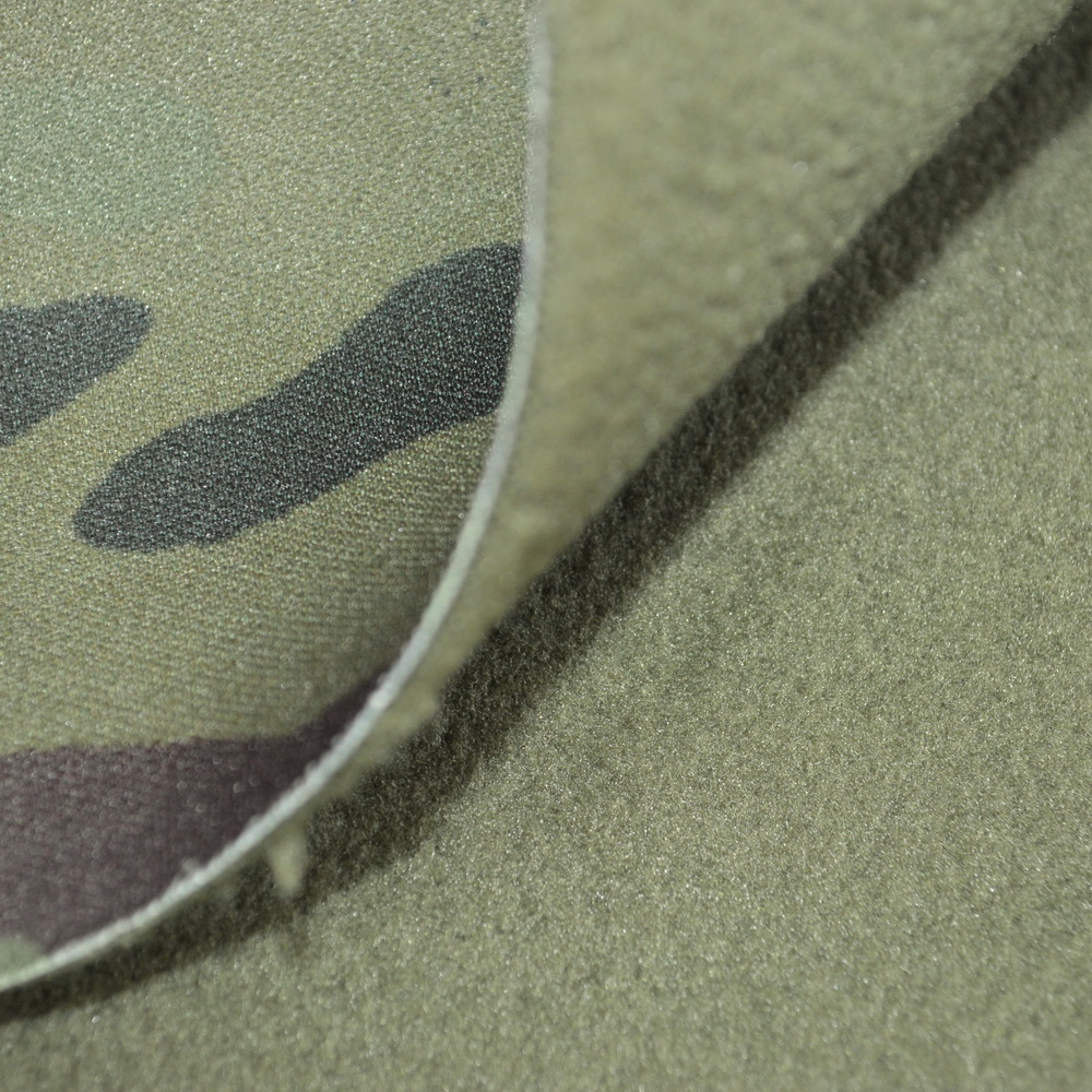 printed soft shell Fabric in army camouflage color for jacket Waterproof breathable softshell fabric