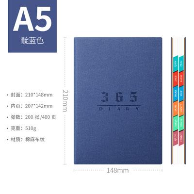 Agenda A5 дневник английский/испанский внутренний доступный блокнот 156 листов стационарный 2020 Agenda с боковой ежемесячным индексом планировщик ...(Китай)