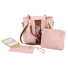 Wholesale 4pcs/set ladies pu leather handbag low MOQ cheap price women fashionable shoulder bags set